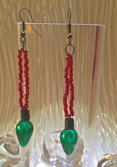 Christmas Light Earrings $14.00 on mjcali1048@hotmail.com