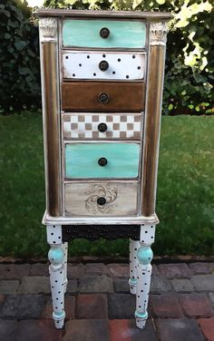 Jewelry Armoire hand painted shabby chic with by accentbydesign, $349.00