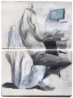 scanned sketchbook on Behance