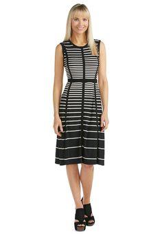 Grid Striped Knit Dress Dresses Cato Fashions