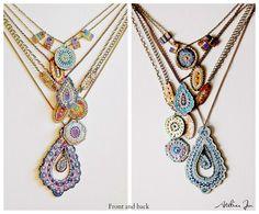 """""""Mauvina"""" multichain necklace  www.atelierjen.com"""