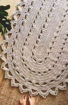 Crochet Rug Patterns, Doily Patterns, Crochet Designs, Stitch Patterns, Diy Crafts Crochet, Crochet Home, Crochet Placemats, Crochet Doilies, Doily Rug