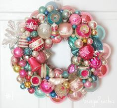 vintage ornament wreath by Georgia Peachez