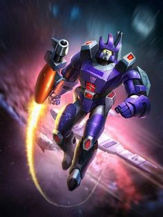 Decepticon Leader Galvatron Artwork From Transformers Legends Game