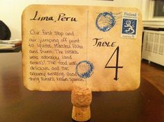 cork stand table number holder