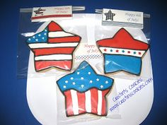 Cristin's Cookies: Independence Day / 4th of July Cookies