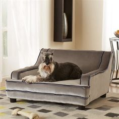 Modern Pet Bed. What dog wouldn't love their own sofa?! :)