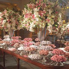 Wedding Decoracion Indian 68 Ideas For 2019 Elegant Wedding, Floral Wedding, Wedding Bouquets, Wedding Flowers, Cake Table, Dessert Table, Floral Centerpieces, Flower Arrangements, Pink Candy Buffet