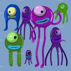 One eyed monsters set #monster