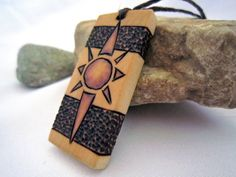 Organic Necklace Sun  Natural Wood Pendant Mens / by SepiaTree, $22.00