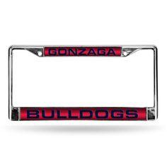 Gonzaga Bulldogs NCAA Laser Chrome License Plate Frame