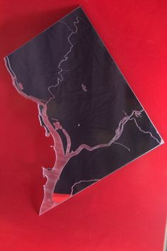 District of Columbia Mirror With Engraved Rivers by PlainlyStated, $35.00
