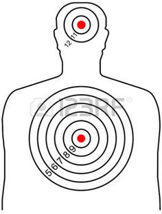 shooting gun the target for shooting at a silhouette of a man