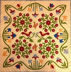 Antique Remake Rose of Sharon Quilt - Daily Antique Quilt Treasures