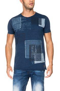 T-shirt 1st level com patchwork | 115685 Azul | Salsa