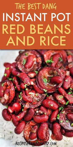 Easy Instant Pot Red Beans and Rice with Andouille sausage is full of comfort food flavor! This classic Southern Dish Recipe is quick, easy and affordable. Instant Pot Beans And Rice Recipe, Red Beans N Rice Recipe, Best Instant Pot Recipe, Instant Pot Dinner Recipes, Appetizer Recipes, Soup Recipes, Lunch Recipes, Lentil Recipes, Rice Recipes