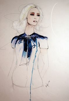 Leigh Viner fashion illustration