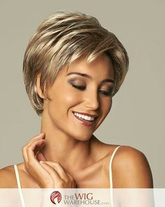 Gorgeous Blonde Wavy Short Synthetic Wigs, Synthetic Hair Comb Source by ethelnox Short Hair Cuts For Women, Short Hairstyles For Women, Short Haircuts, Haircut Short, Hair Cuts For Over 50, Stylish Haircuts, Popular Haircuts, Gabor Wigs, Curly Hair Styles