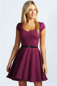 Sweetheart Neck Skater Dress - I am just going to point out that I would look adorable in this