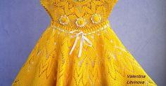 Tina's handicraft : kids dress & hats with flower trimming Crochet Toddler Dress, Crochet Girls, Crochet Baby Clothes, Crochet For Kids, Free Crochet, Little Girl Dresses, Girls Dresses, Summer Dresses, The Dress