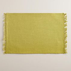 One of my favorite discoveries at WorldMarket.com: Oasis Green Herringbone Placemats, Set of 4
