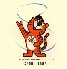 Hodori - mascot of the Seoul Olympics in 1988.