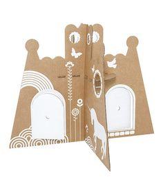 Look at this #zulilyfind! Cardboard Princess Castle by flatout frankie #zulilyfinds