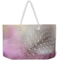 """Soft Touch. Angels Flight Series Weekender Tote Bag (24"""" x 16"""") by Jenny Rainbow.  The tote bag is machine washable and includes cotton rope handle for easy carrying on your shoulder.  All totes are available for worldwide shipping and include a money-back guarantee."""