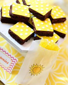 sunshine brownies