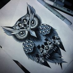 Late night designing.Ain't no rest for the wicked. #owl #owldrawing #owltattoo #owldesign #owltattoodesign #art #drawing #copicmarkers #tattoo #design #tattooart #illustration #dotwork #dotworktattoo #copicciao #artistsofinstagram #femaleartist #southafrica #capetown @arts_help