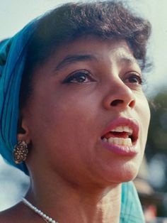 Actress & activist Ruby Dee, who with her husband, Ossie Davis, served as Master & Mistress of Ceremonies at the March on Washington for Jobs and Freedom, August 28, 1963.