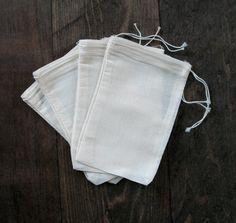 Muslin Drawstring Bags.