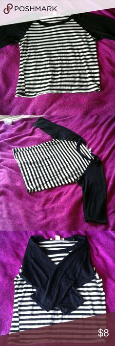 Adam Levine top! XL shirt. Striped, 3/4 sleeves. adam levine Tops Tees - Long Sleeve