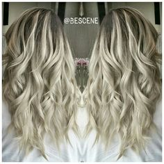 ASH BLONDE BALAYAGE OMBRE All colors are @Schwarzkopfusa! I Balayage with #Schwarzkopf #BlondMe premium lift and @Olaplex. Base: 5-1, 6-12, E-1 20vol Ends: 9.5-22, 9.5-1, E-1, 0-22 7vol. Styled by my assistant @maayanbescene #BESCENE