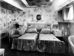 Piero Fornasetti - cabin design for the Andrea Doria