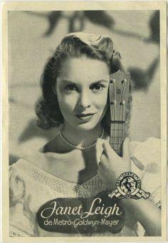Janet Leigh Vintage 1950s Florita Magazine Supplement Photo