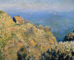 La maison du pêcheur, Varengeville (De hut van de visser, Varengeville) - Claude Monet, 1928   Collectie Boijmans