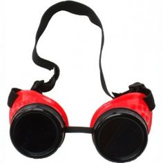 Lunettes Goggles Cyber Gothique Goth Rouge