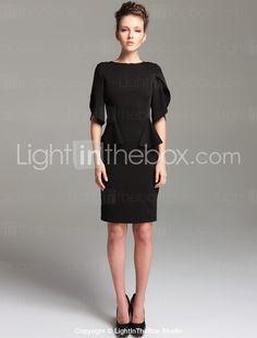 Vintage Style Open Sleeve Sheath Dress