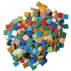 Jennifer's Mosaics Variety 3/8-Inch Venetian Style Glass Mosaic Tile, Assorted Colors, 3-Pound