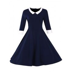 SHARE & Get it FREE   Retro Flat Collar Flare DressFor Fashion Lovers only:80,000+ Items·FREE SHIPPING Join Dresslily: Get YOUR $50 NOW!