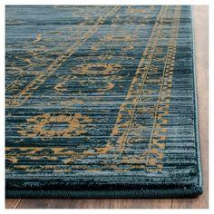 Amelia Area Rug - Turquoise/Gold (8'-6 X 12') - Safavieh, Turquoise/Blue