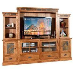 Nebraska Furniture Mart – Sunny Designs 6-Piece Rustic Oak Entertainment Center