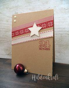 Scandinavian style CAS Christmas card DIY