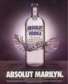 Absolut Marilyn. The Best Of The Great Absolut Ads - Article about Absolut Vodka ad campaign history on www.buzzfeed.com