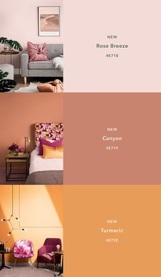 Home Trends home trends 2018 Paint Colors For Living Room, Paint Colors For Home, House Colors, Bright Bedroom Colors, Colourful Bedroom, Room Color Schemes, Interior Color Schemes, Colour Pallete, House Painting