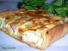 Quiche jambon et Vache qui rit Cuisine Diverse, Flan, Entrees, Food Porn, Food And Drink, Cooking Recipes, Yummy Food, Breakfast, Quiches