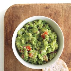 For many, cilantro is the key to making the best guacamole. Serve this with chips, crackers, or crudites.