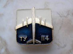 TU-114 Aircraft Aeroflot Russian Soviet Pin Badge