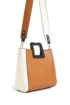 fb0da2b6800 Faux Leather Colorblocked Handbag | Forever21 Summer Chic, F21, Shopping  Lists, Latest Trends